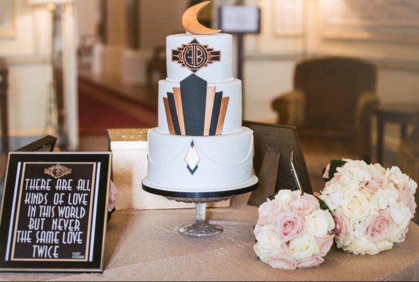 Art Deco Great Gatsby Wedding Cake