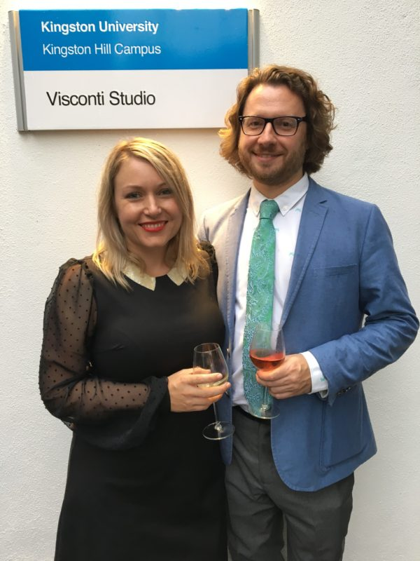 Dr Leah Kardos with her also very proud actual partner, Ben Dawson!