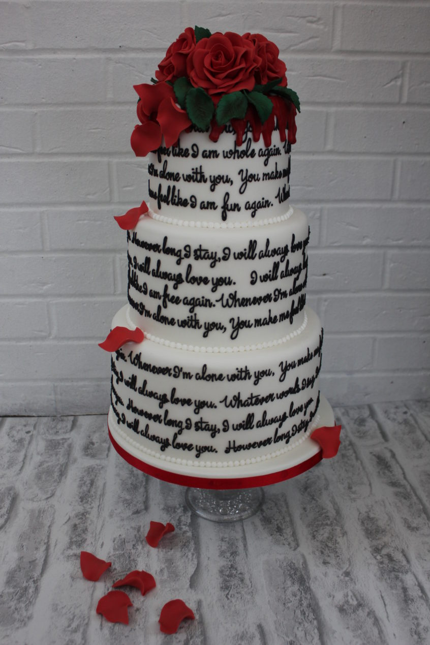 A Love Song Cake For Valentine S Day Restoration Cake