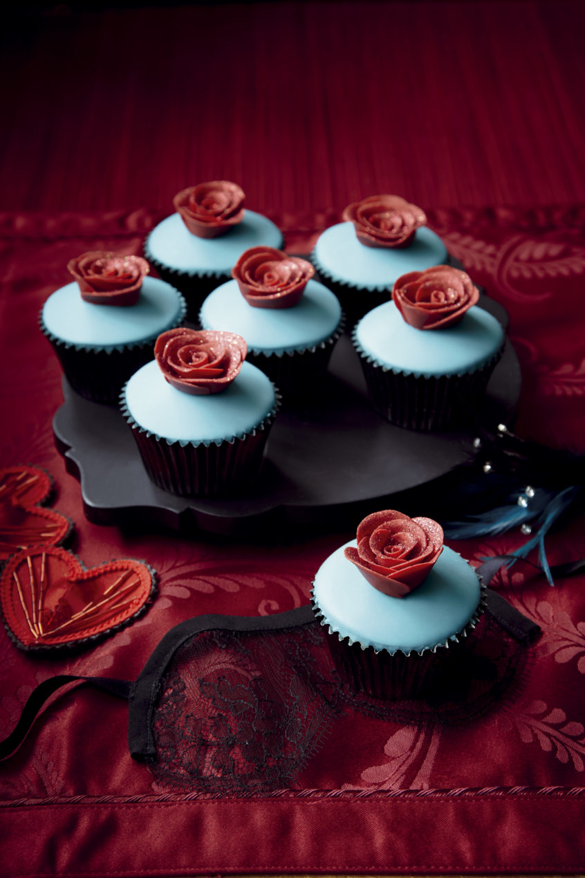 Miss Tempest Rose Cupcakes from Burlesque Baking (Ryland, Peters, & Small 2013)