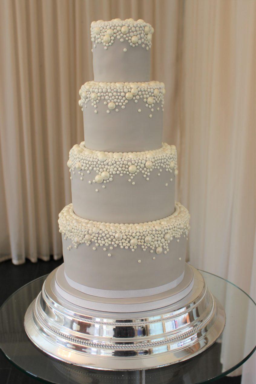 Wedding Cake Wednesday Elegance In Grey Pearl Restoration Cake